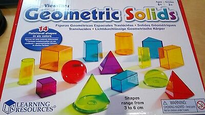 Learning Resources View-Thru Colourful Geometric 3D Solids