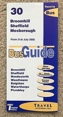 Sheffield Bus Timetable July 2000 - Service 30 First Mainline