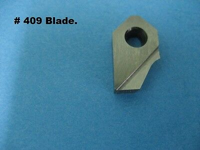 "Three angle valve seat cutter carbide blade # 409  30/45X.040""/60 relief angle9°"