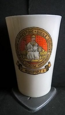 Crested China Beaker - Gosport Crest