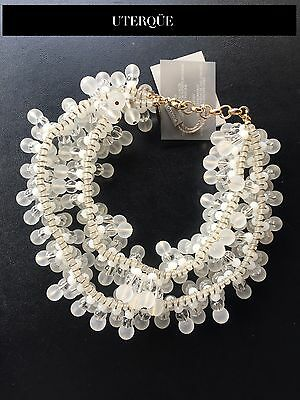 NWT Double Crystals UTERQUE by ZARA necklace RRP99€