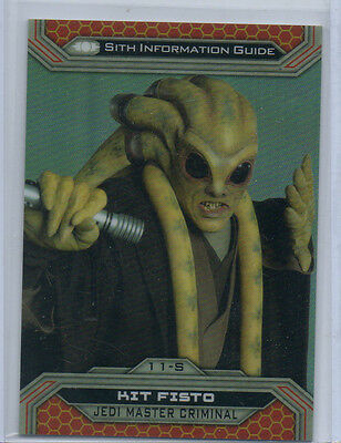 Star Wars Chrome Jedi Vs Sith - 11S 17/50 Gold Parallel Card NM