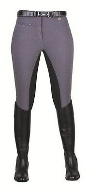BREECHES -STRETCHY Grey/Black-by HKM-59212591 RRP $129.95                    ...