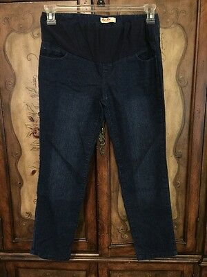 MAMA Maternity's Fashions Maternity Size M Crop Jeans Dark Wash
