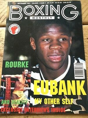 Boxing Monthly September 91 Eubank, Mickey Rourke, Steve Collins