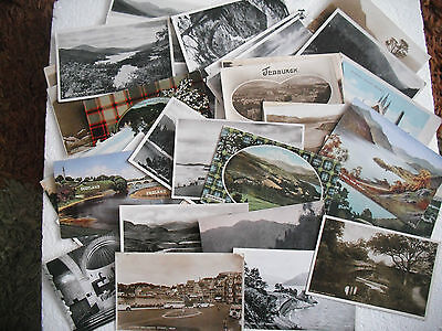 40 x postcards - job lot Scotland - various types / areas - see photos