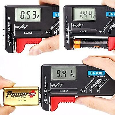 Hapurs Universal Digital Battery Tester Volt Checker for AA AAA C ... -Brand NEW