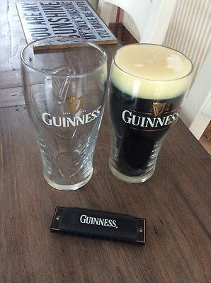 Guinness Pint Candle/glass/harmonica Set Norfolk
