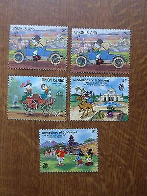 Grenadines of St Vincent Stamps & Union Island - Mint Disney stamps