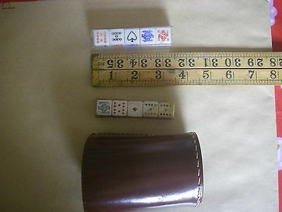 Leather Dice Shaker plus 2 sets of Poker dice,see photos