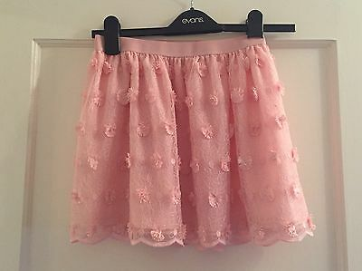 Next Pink Lace @ Flower Detail Skirt - Age 9/10
