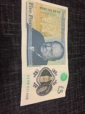 New £5 Note With Serial Number AK48 521909