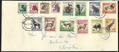 South Africa 1954 Animal Definitives Cover Cds to Clocolan