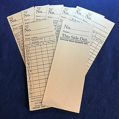 Clocking in Clock Cards for National Clocking Machine (set 3)