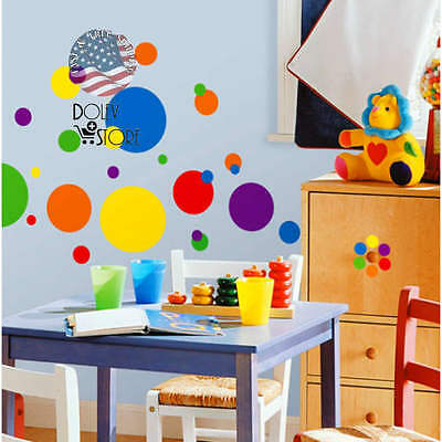 RoomMates - Primary Colors Just Dots Peel Stick Wall Decals