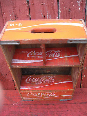 Vintage Coca-Cola Wooden Crate With shelf for nic,nac's