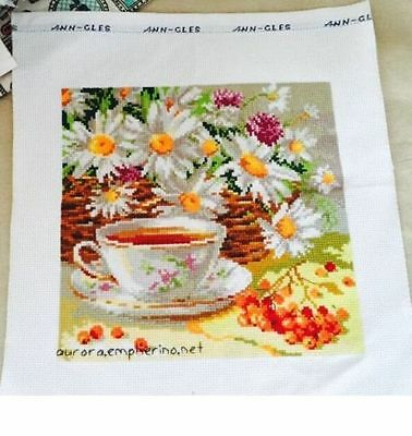 """MNEW Finished completed handmade Cross stitch""""AFTERNOON TEA""""sale gifts"""
