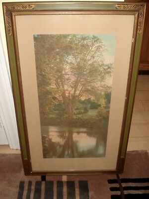 """Antique Colored Print By Charles Sawyer Signed """"The Afterglow"""""""