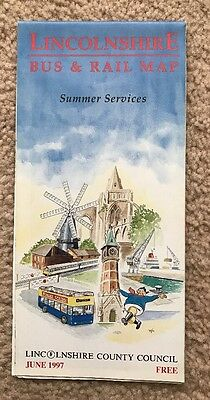 Lincolnshire Bus Map & Guide June 1997