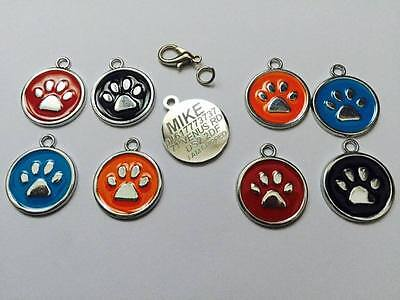 Personalised Premium Engraved Pet Tags DOG ID Custom Disc Disk Quality Puppy