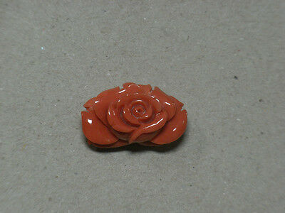 Beauty Hand CARVING CAMEO ~(coral) ~25mm*16mm.Rose(ec564)