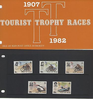 ISLE OF MAN 75th ANNIVERSARY TT RACE PRESENTATION PACK OF MINT STAMPS FREE P&P