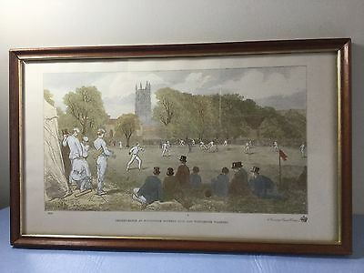 """Vintage Print """"cricket Match At Winchester Between Eton & Winchester Colleges"""""""
