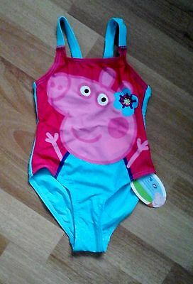 PEPPA PIG BLUE & PINK SWIMSUIT SIZE 12-18mths BRAND NEW & TAGGED