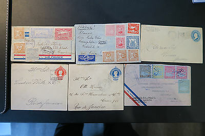 Collection of old Latin Amerika letters and stamps