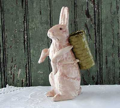 Midwest of Cannon Falls ~SMALL VELVET-COVERED BUNNY w/ BASKET~ New & Unused!
