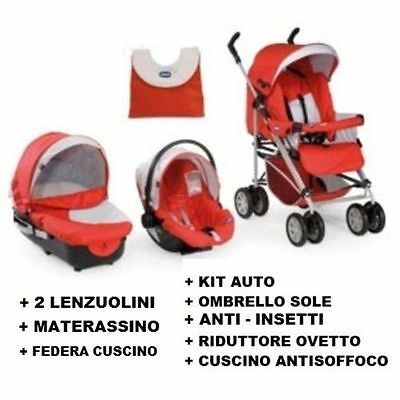 CHICCO TRIO passeggino navicella ovetto + accessori in REGALO