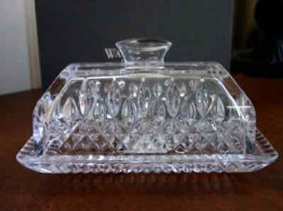 Waterford Crystal LISMORE Covered Butter Dish - NEW/BOX