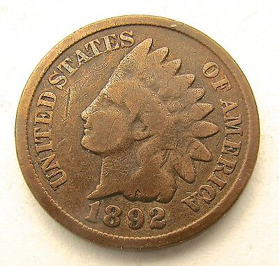 1892 USA / American Indian Head penny