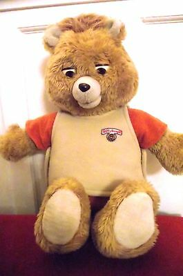 Teddy Ruxpin 1985 vintage large talking bear with out tape faults
