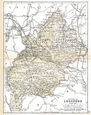 3 maps of County Longford & Ireland, dated 1840&1897 plua a Leinster fact sheet.