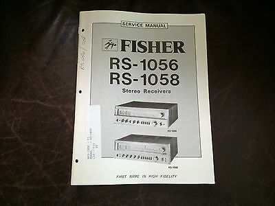 Fisher Original Service Manual Factory Repair Schematic Turntable Receiver