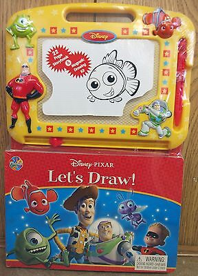 Disney Pixar Let's Draw Toy Story 22 Page Storybook & Magnetic Drawing Kit - Nip