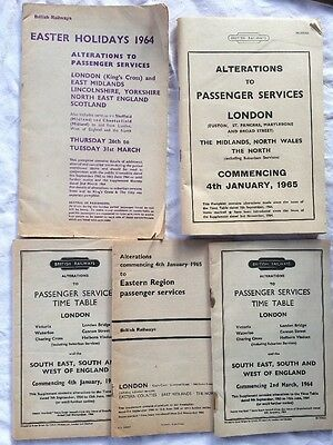 British Railways (London Stations): Alterations to timetables 1964/5