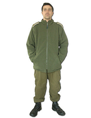Israeli Army, IDF military double-sided Fleece Jacket - Olive Green and Black.