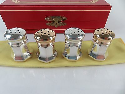 Vintage Cartier Sterling Silver Salt & Pepper Shakers with Box