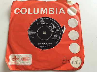 "1968 Irish 7"" Don Partridge -Going Back To London/Rosie -Columbia DB(i)8330"