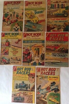 Lot Of 14 Hot Rod Silver Age Comic Books VTG Racers Racing Cars 1960's