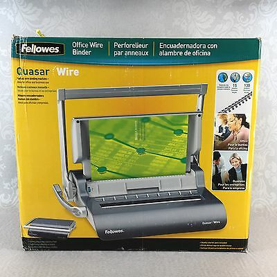 New In Box Fellowes Quasar Wire Manual Wire Binding Machine  001631