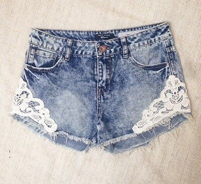 New Look Lace Denim Shorts
