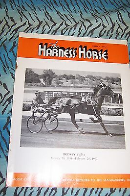 Vintage The Harness Horse magazine,sulky racing, Mar 6, 1963
