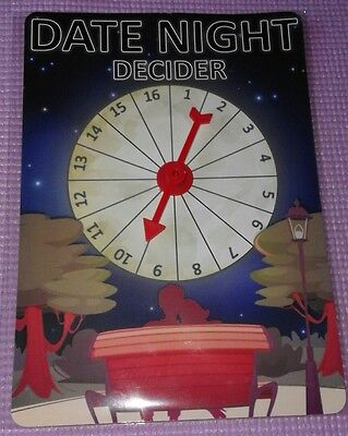 Date Decider Couples Lovers Novelty Game Gift