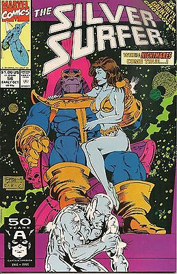 Silver Surfer #56 NM Thanos Story Line Infinity Gauntlet Marvel Comics