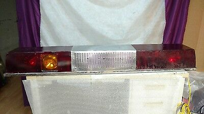 Vintage 55 Inch Rotating Police/fire Twinsonic Light Bar By Federal Signal