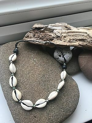 Sigay Shells on Wax Thread Choker-Unisex