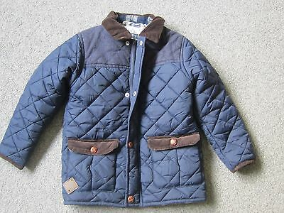 Next Boys Navy Stylish Casual Smart Quilted Jacket-Size 5-6 years